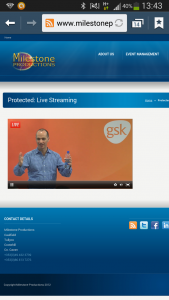 webcast on mobile